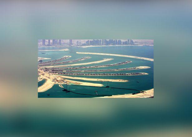 Île Palme Jumeirah, tunnel pour véhicules